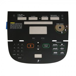 Precor AMT12 833 P30 Overlay/Keypad Assembly