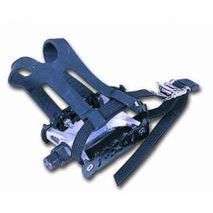 Pedal with Toe Clip and Strap - Fits most Spinners  9/16""
