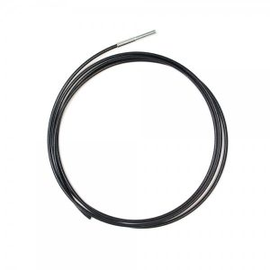 """Ready Made Black Cable - 10 Feet - 3/16"""" Coated to 1/4"""" with 3/8""""-16 X 3"""" Threaded Stud"""