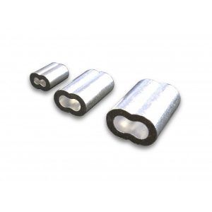 """Aluminum Oval Sleeve - 1/4"""" Cable"""