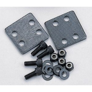 """Knurled Metal Clamp - 2""""x2"""" With Allen Bolts + Nuts"""